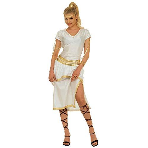Widmann 37282 - Erwachsenenkostüm Athena - Kleid, Gürtel und Bänder, Größe M, Mehrfarbig