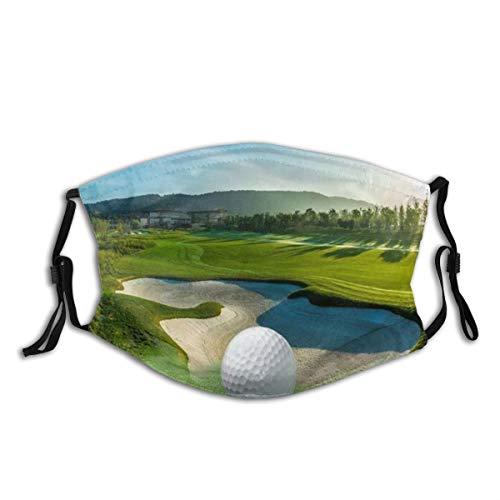 Decken Schlafsofa werfen leichte gemütliche Plüsch Golfplatz schöne Sky Hole Bunker,Staubwaschbarer wiederverwendbarer Filter und wiederverwendbarer Mundschutz gesicht
