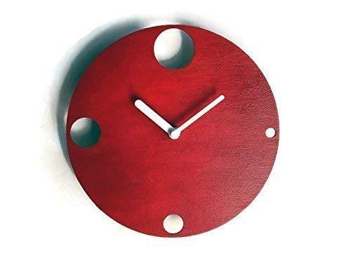 28cm Kleine hölzerne ruhige wanduhr ohne tickgeräusche in vielen farben wie rot Keine tickenden wanduhren Modernes design winzige leise uhr für hauseingang Moderne uhren kein ticken