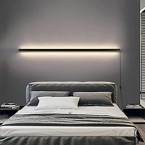 HIGHKAS Tiras de Luces LED Lámpara de Pared Lámpara de Aplique de Pared Larga Regulable para Interiores con Enchufe de Interruptor, Iluminación de Pared de Temperatura de 3 Colores Lámpara de Pared
