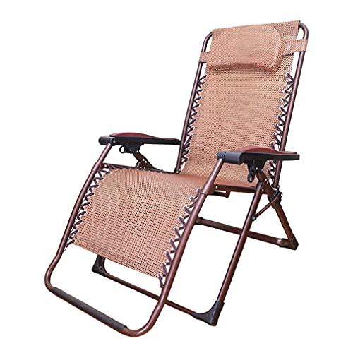 Tumbona Plegable Lazy Lounge Sillón con reposacabezas extraíble Silla Zero Gravity Sillas elásticas Ajustables