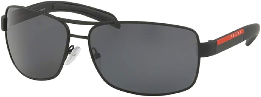 Prada PS54IS Rectangle Sunglasses For Men+FREE Complimentary Eyewear Care Kit