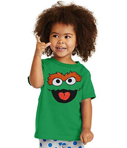 Sesame Street Oscar The Grouch Face Infant T-Shirt-12 Months Green