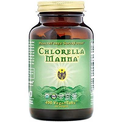 HealthForce Nutritionals, Chlorella Manna, 400 VeganTabs