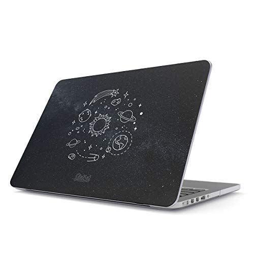 Glitbit Custodia per MacBook PRO 15 Pollici, Hard Case Cover Modello: A1990/A1707, 2016-2018, con Touch Bar Solar System Galaxy Stars Planet Moon Universe Cosmic Cosmos Space Tumblr Galassia Stelle