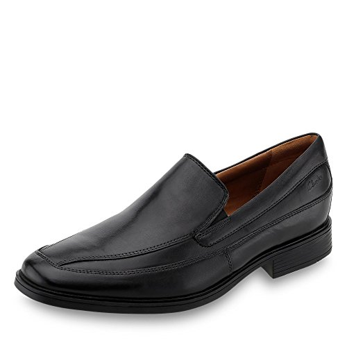 Clarks Tilden Free, Mocassini Uomo, Nero (Black Leather), 48 EU