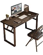 """Składane biurko komputerowe Nowoczesne proste biurko do domowego biura Solidne biurko,Black,31.4""""×19.6""""×25.5"""""""
