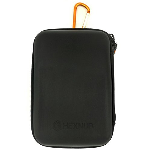 TomTom Sat Nav Hard Case fits all 5-inch GPS Tom Tom Go 5200 5100 Go 510 520 Go 42 51 5100 Start 25 52 VIA 135 53 Rider 500 550 Premium Start Black/Orange
