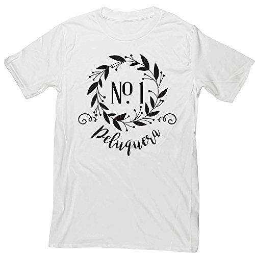 Hippowarehouse Decoración Floral Número Uno Peluquera Camiseta Manga Corta Unisex