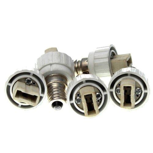 5x Offgridtec® Lampensockel Adapter E14 auf G9 für LED Lampen