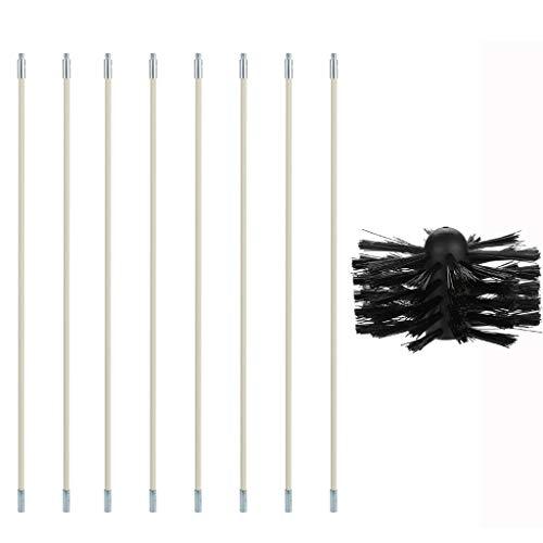 HINK Kit de Limpieza de conductos de Secadora El removedor de Pelusa se extiende hasta 16 pies Cabezal de Cepillo sintético Suministros de Limpieza para el hogar y el jardín 清洁 用品