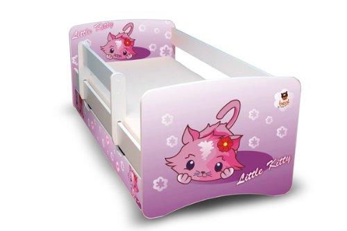 BEST FOR KIDS - Lit d'enfant 90x180 avec garde-corps et deux tiroirs 44 design