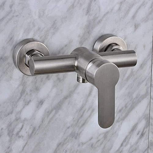 Kit grifo al aire libre moderno de acero inoxidable montado en la pared grifo de la ducha grifo manual interruptor de agua del grifo de la ducha