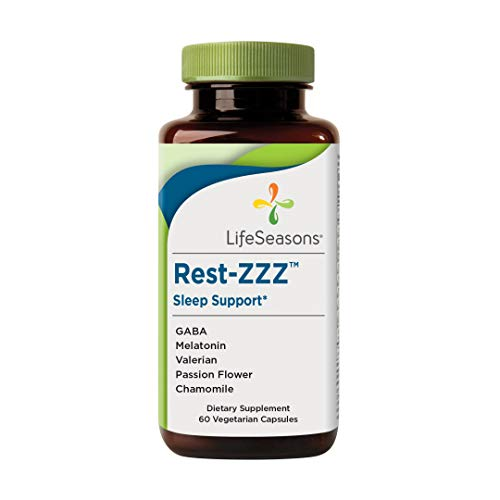 LifeSeasons - Rest-ZZZ - Natural Sleep Supplement - Aids Restlessness - Maintain a Calm and Relaxed State Without Feeling Groggy in The Morning - Low Dose Melatonin, Chamomile - 60 Capsules