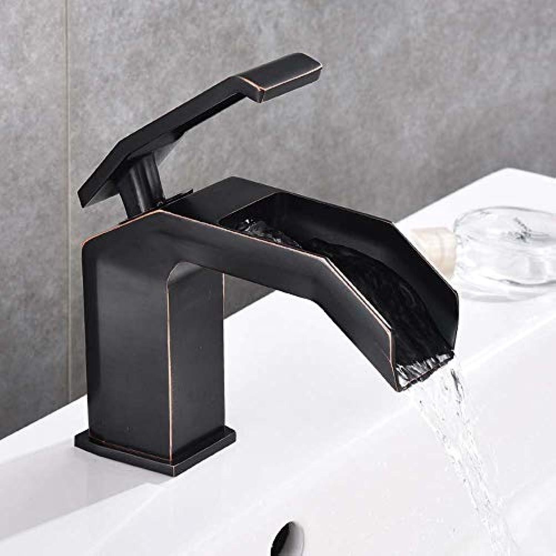 Perfekt Kupferbecken Heien Und Kalten Wasserhahn Wasserfall Schwarzer Wasserhahn Schwarzer Bronze Wasserhahn