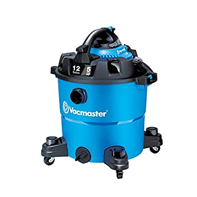 Vacmaster VBV1210, 12-Gallon 5 Peak HP Wet/Dry Shop Vacuum with Detachable Blower