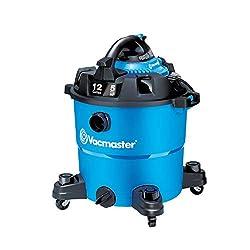 Vacmaster 12-Gallon 5 Peak HP Wet/Dry Shop Vac, Blue