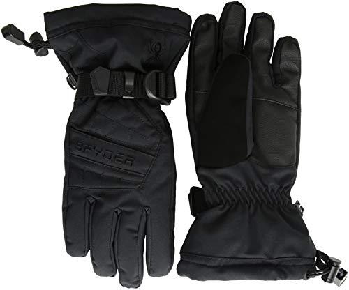 Spyder Overweb Skihandschuh für Jungen, Schwarz/Schwarz, Größe XL