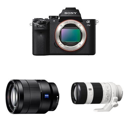 Sony Alpha a7 II Mirrorless Digital Camera w Sony FE 24-70mm F/4 ZA and Sony FE 70-200mm F4G OSS Lens Bundle