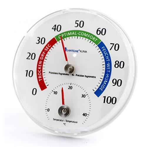 Lantelme Temperatur Luftfeuchtemesser Kombigerät Analog Thermometer Hygrometer Innenthermometer 6540