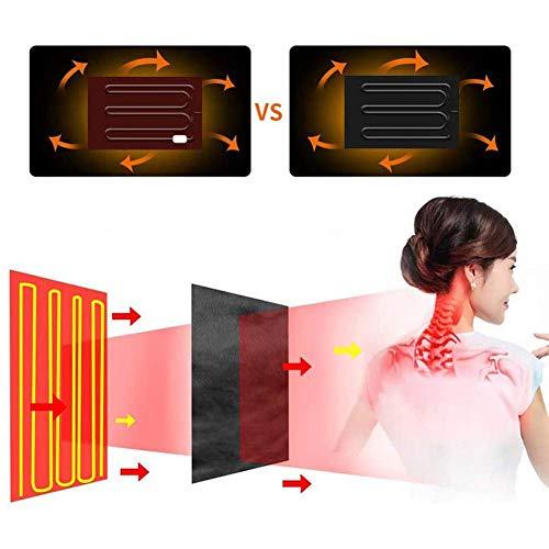 FYYTRL Manta eléctrica climatizada, Multi-función Pueden almacenar Grandes Chal, Fibra de Carbono...