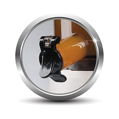 Imetec Succovivo Pro 2000 Estrattore di Succo Professionale a Freddo, Spremitura Lenta 48 Giri/Min, 2 Filtri per Succhi, Accessorio per Granite e Sorbetti, Kit per Maschere Bellezza, con Ricettario