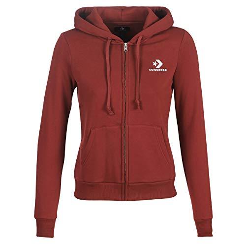 Converse Star Chevron Embroidered FZ Hoodie Sweatshirts und Fleecejacken Femmes Bordeaux - M - Sweatshirts