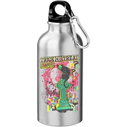 Trick or Treat Halloween Black Tomb Cat Tourist Water Bottle
