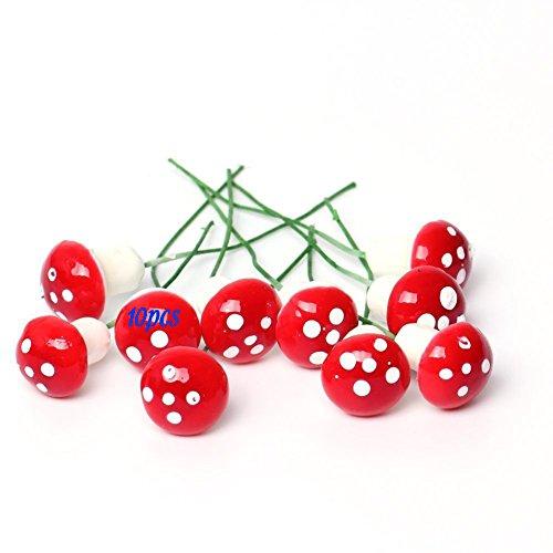 BIC 2/Champignons artificiels en Plastique d/écoratif L/égumes