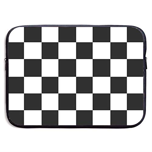 CRSJBB219 Checkerboard-Black & White Grphic.jpg Laptop Sleeve Bag 13 15 Inch Notebook Computer PC Neoprene Protection Case Cover Pouch Carrier Holder