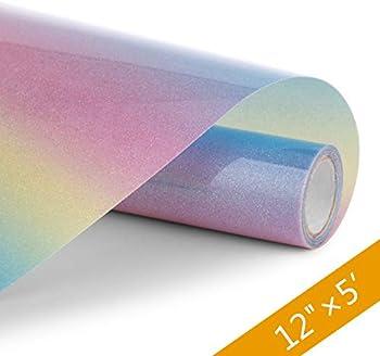 Henpisen Rainbow Glitter HTV Vinyl HenPisen Heat Transfer Vinyl