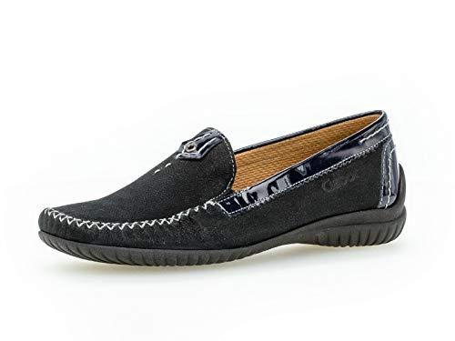 Gabor Damen SlipperMokassins, Frauen Slipper,Comfort-Mehrweite, schlupfhalbschuh College Schuh Loafer businessschuh,Nightblue (S.schw),37 EU / 4 UK