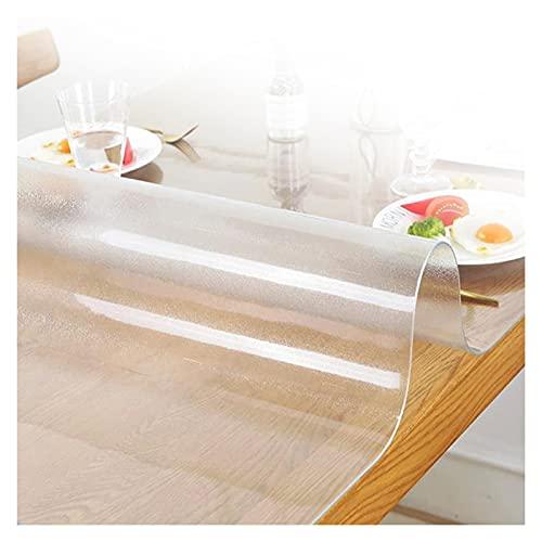 PVC Plastico Manteles, Protector de Mesa de PVC Escarchado Protector de Pantalla, Ordenador Comedor Mantel Impermeable for Suelo de Madera, Esterilla, Mesa de café ( Color : 2mm , Size : 80x80cm )