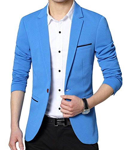 Adelina Sakko Sportieve Modern Slim Jacket Elegante Fit Jongens Herenmode Vrijetijds- en business-Blazer bovenkleding met 1 knop