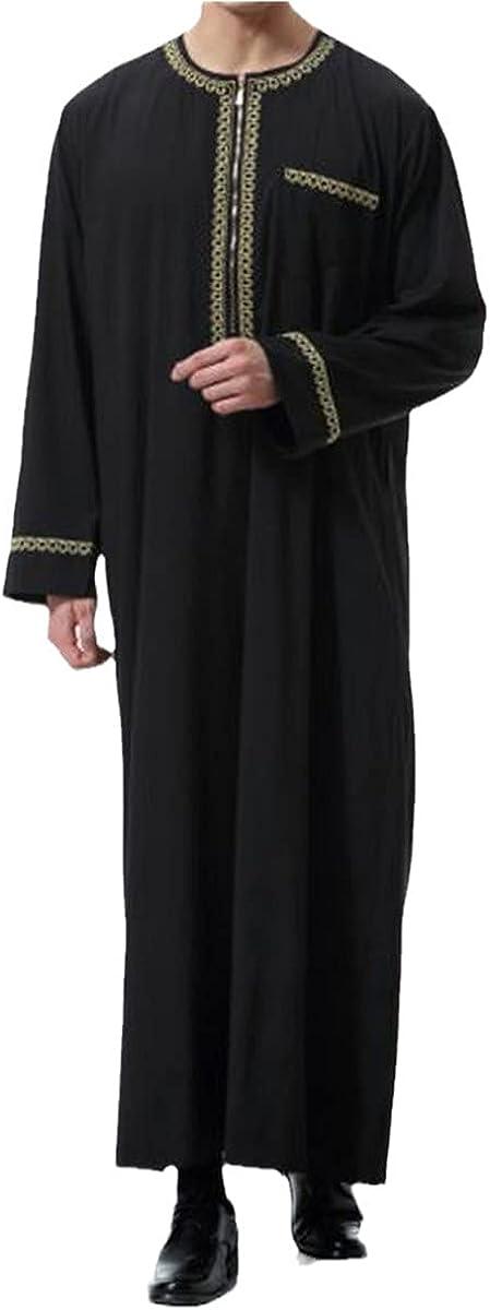 Ramadan Muslim Dress Men Jubba Thobe Saudi Arabia Robe Dubai Indian Vintage Loose Islamic Clothing