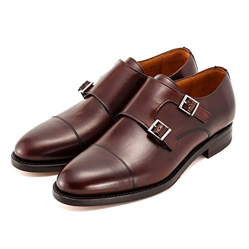 [バーウィック] ダブルモンク ストラップ 紳士靴 革靴 メンズ ブラウン 3637 レザーソール SADDLEカーフ素...