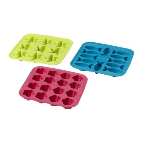 IKEA PLASTIS -Eiswürfelschale grün / pink türkis