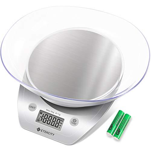 ETEKCITY Báscula Digital para Cocina Báscula de cocción d