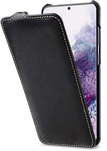 StilGut UltraSlim entwickelt für Samsung Galaxy S20 Plus/S20+ Hülle - Samsung Galaxy S20 Plus Flip Case aus Leder, Klapphülle, Handyhülle, Lederhülle - Schwarz