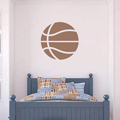 Baloncesto Tatuajes de pared Juego de pelota Deportes Arte Mural Puerta Vinilo Pegatinas Estadio Adolescentes Niños Decoración interior para dormitorio 57x57cm