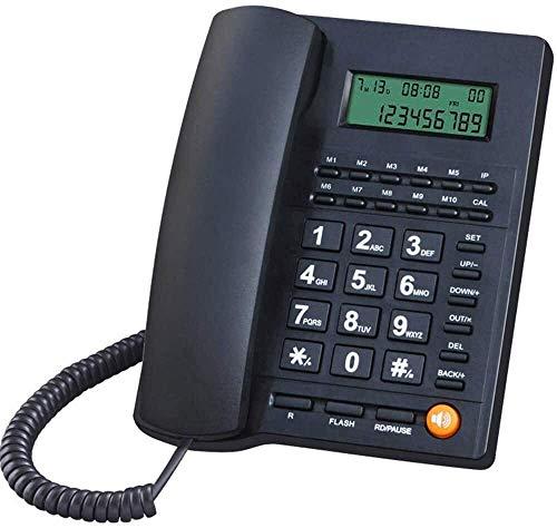 Teléfono Inicio Teléfonos Teléfonos Línea fija Cordon Wired Teléfono Línea Liña Identificación de Llamada Llamada Ajuste Ajuste Automóvil Reloj de Alarma Sin batería Para Oficina Inicio Cableado (Colo