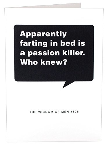 Coulson Macleod The Wisdom of Men Funny Birthday Card, 4.75 x 6.75-Inches, Who Fart in Bed