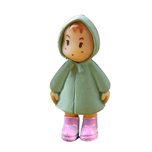 Mignonne mini miniature, gnome de jardin pour décorations d'intérieur, orange, Plastique, rose, Taille unique