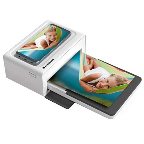 """AGFA Photo Photo Realipix Moments – Stampante fotografica Bluetooth (foto formato cartolina 10 x 15 cm – 4 x 6"""", Sublimazione Termica 4 pass), Bianco & Nero"""