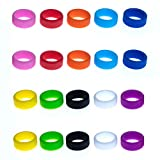 Grifiti Band Joes .8 x .25 Small Silicone Rubber Bands Rings Gasket Bottle Food Cooking Durable Boxes Wraps 20 Pack Assorted Colors