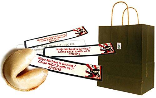Greenfire Custom Fortune Cookies, For Birthdays, Full Color Fortune Printing, Premium Vanilla, Bulk Quantity (300 count)