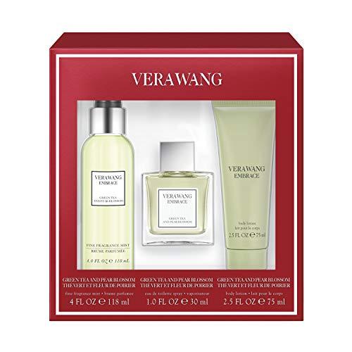Vera Wang Embrace Green Tea 3-Piece Gift Set with 1-Ounce Eau de Parfum, 4-Ounce Body Mist, and 2.5-Ounce Body Lotion, Total Retail Value $44.00