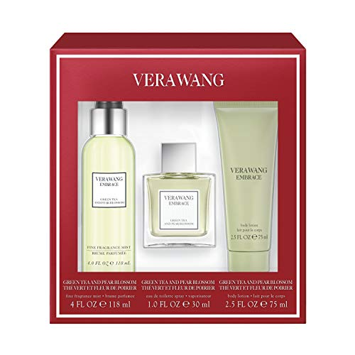 Vera Wang Embrace Green Tea 3-Piece Gift Set with 1-Ounce Eau de Parfum, 4-Ounce Body Mist, and 2.5-Ounce Body Lotion, Total Retail Value $44.00