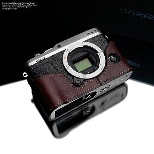 Cameratas voor Fujifilm X-E3 camera | Handgemaakte fototas van Italiaans leer | tas voor Fuji X-E3 | Kleur systeemcamera tas: donkerbruin | Kleur leren tas: Bruin | Gariz Design