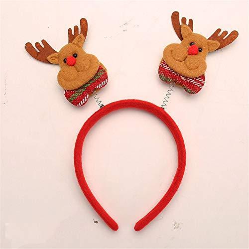 VHVCX Weihnachtskopfschmuck, Feiertag Kopfbedeckung, Weihnachten Kinder Weihnachten Weihnachtsdekoration 20 * 13cm, Frühling Elk Brown Kopf-Band